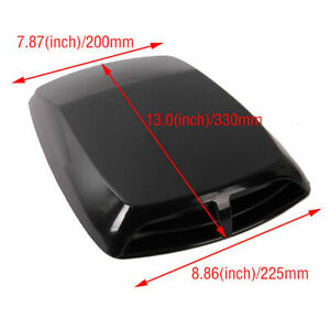 Decorative Air Flow Intake Hood Scoop Bonnet Cover Plastic Sticker Diy Hzn123