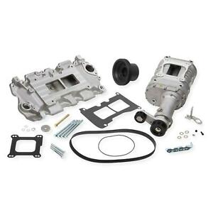 Weiand 6500 1 Chevy Small Block Powercharger Kit Satin Finish