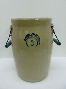 3 Gallon Eagle Crock Churn With Handles No Lid