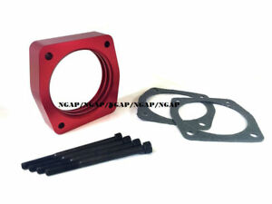 Red Spiral Flow Throttle Body Spacer For Nissan 350z Maxima Altima Murano Vq35de