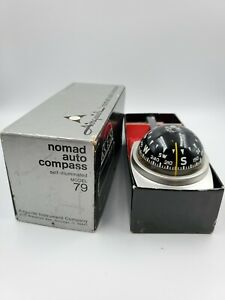 Airguide Nomad Deluxe Auto Compass No 79 W Box Self illuminated Vintage