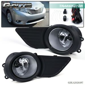 For Toyota Sienna 2011 2017 Fog Light Grille Front Driving Lamp Assembly Kit