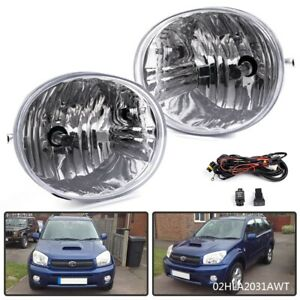 Fit For 2004 2005 Toyota Rav4 Clear Oe Replacement Fog Light Clear Lens