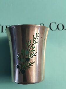 Tiffany Co Sterling Silver Rye Jigger Shot Glass Cup Makers 23888 Rare 1960 S