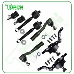 8pcs For 2004 2006 Toyota Tundra Front Tie Rod Links Ball Joints Suspension Kit