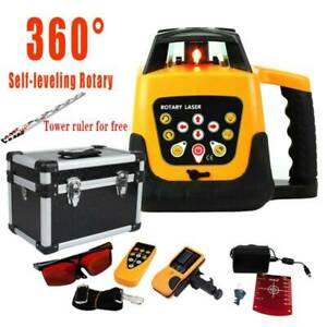 Self leveling 360 Degree Rotary Rotating Red Laser Level Kit W Case