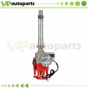 Distributor For Chevrolet V8 Sbc Bbc 305 327 350 454 Ready To Run Small Red Cap