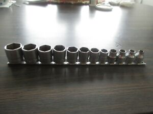 Snap On 12 Pc Shallow Socket Set 3 8 Drive 1 4 To 7 8