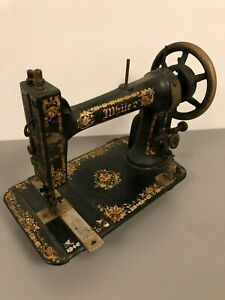 Antique Late 1800 S White Treadle Sewing Machine Head Ornate Gold Floral