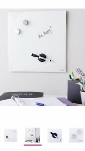 Magnetic Glass Board Dry Erase Board 14 x14 free Shipping