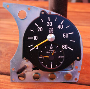 Mercedes W116 Diesel Tachometer With Clock 300sd Tach Rpm Rev Counter