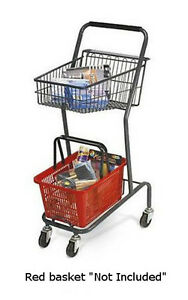 Mini 42 Inch Retail Store Shopping Cart Red Basket Not Included