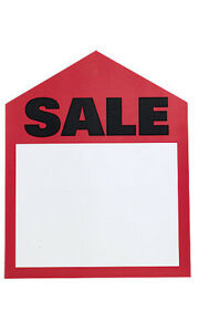 Red Sales Large Price Tags 6 W X 7 H Inches Pack Of 50