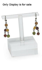 Earring Holder In Clear 2 X W X 2 H Inches Count Of 10