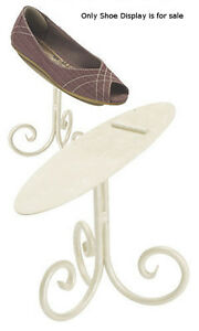 Shoe Display Stand In Rich Creamy Ivory 6 Inches