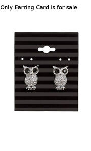 Earring Cards In Black Stripes 2 W X 2 1 2 H Inches Count Of 100