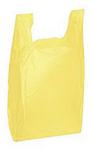 Count Of 1000 Yellow Plastic T shirt Bags Medium 11 X 6 X 21