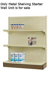 Starter Madix Metal Dhelving Gondola Unit In Almond 84 H X 48 L X 16 D Inches