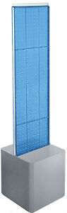 2 sided Pegboard Floor Display In Blue 13 5w X 44h Inches With Studio Base