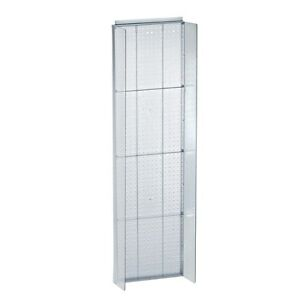 Clear Pegboard Powerwing Display Clear Plastic Side Wings 16 75w X 60h Inches