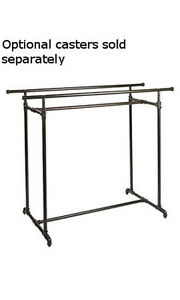 Double Rail Clothing H Display Rack 63w X 30d X 48 72h Inches