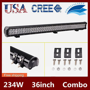 36inch 234w Led Work Light Bar Flood Spot Combo Offroad Car Boat Truck Ute 34 38