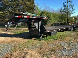 40 Foot Gooseneck 8 Foot Deckover Two 12000 Lb Dexter Axles Airride Suspension