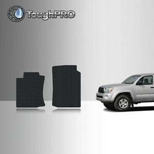Toughpro Front Mats Black For Toyota Tacoma Double Cab All Weather 2005 2009