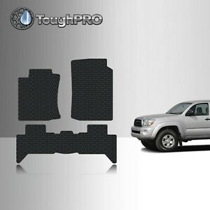 Toughpro Floor Mats Black For Toyota Tacoma Double Cab All Weather 2005 2009