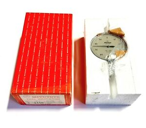 Mitutoyo Dial Indicator 001 250 Dial Reading 0 100 Made In Japan 3410