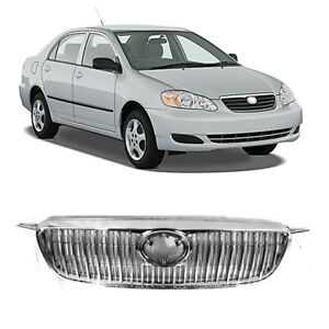 Grille Fit For Toyota Corolla 2003 2004 2005 2006 2008 Altis Chrome Front Hood