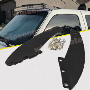 Fit 93 11 Ford Ranger Upper Roof 50 Curved Led Light Bar Pair Mount Brackets