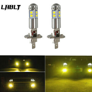 New 2x H1 3000k Yellow For 100w High Power Led Fog Light Driving Bulb Drl