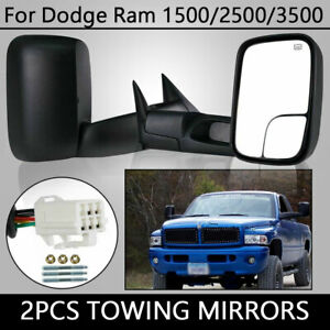 Fit Dodge Ram 1500 2500 3500 Power Heated Manual Fold Tow Mirrors Left Right