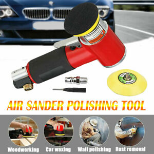 2 3 Mini Air Sander Kit Pneumatic Polishing Grinding Machine Car Body Polisher