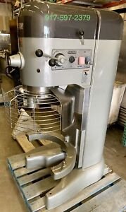 Used Hobart M802 With Safety Cage 80 quart Dough Mixer 3hp 200 60 3