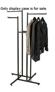 Vintage 4 Way Boutique Clothing Rack With Staright Arms 48 72h Inches