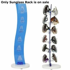 Acrylic Counter Top Rotating Sunglass Display Rack In Blue 19 H X 6 W