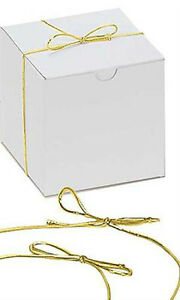 Elastic Stretch Loops For Gift Boxes In Shiny Gold 16 Inch Lot Of 50