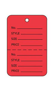 Count Of 1000 New Retails Small Red Unstrung Coupon Price Tags 1 w X 1 h