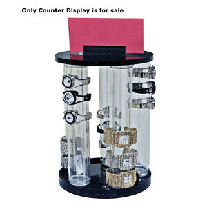 5 pole Vertical Revolving Bracelet Display 13 875h X 9dia Inches Box Of 4