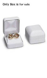 Ring Box Faux Leather In White 2 X 1 X 1 5 Inches Case Of 10