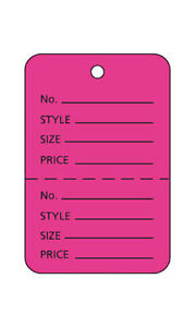 Flamingo Pink Unstrung Coupon Price Tags In 1 W X 1 H Inches 1000 Pc