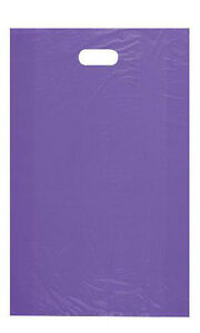 Purple Plastic High Density Large Merchandise Bags 15 X 4 X 24 Inch 1000 Pc