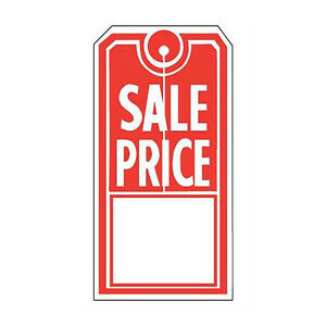 Sales Price Tags In Red And White 2 W X 4 H Inches Case Of 1000