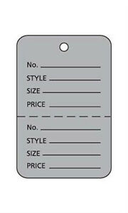 Case Of 1000 New Retails Small Grey Unstrung Coupon Price Tags 1 w X