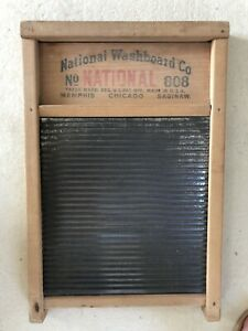 Ra Vintage Antique National Washboard Company 808 Wood