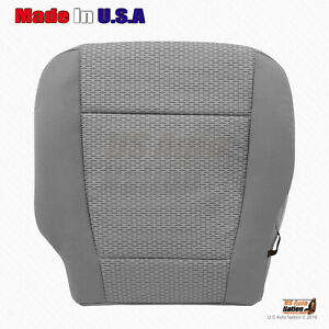 2015 2016 2017 Ford F150 Front Driver Bottom Replacement Cloth Seat Cover Gray
