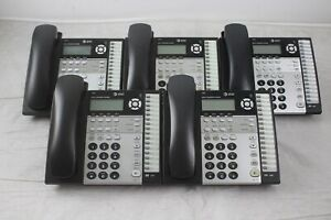 Lot Of 5 At t 1080 4 line Small Business System Phones W Stands Handsets