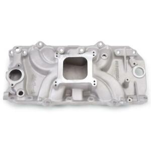 Edelbrock Intake Manifold 5061 Torker Ii 2 o Single Plane Satin For Chevy Bbc